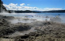 Hot Water Beach conservation campsite: Lake Tarawera Scenic Reserve, Bay of Plenty region