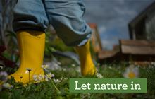 Let nature in: Get involved